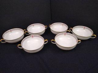 Charles Ahrenfeldt limoges set of 6 Bouillon cups