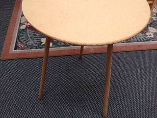3 legged wooden table 26 in H