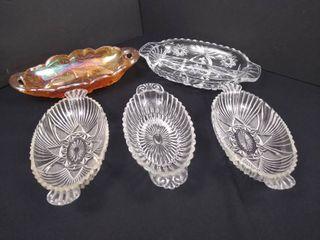 5   elongated bowls