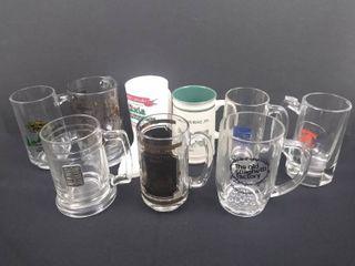 lot of 9 beer mugs