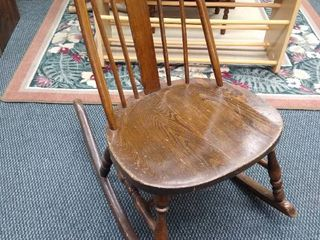 Antique rocking chair 31 in H