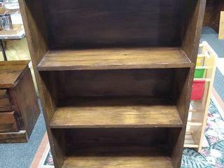 4 tier wooden bookshelf 50 in H x 24 in W X 9 in D