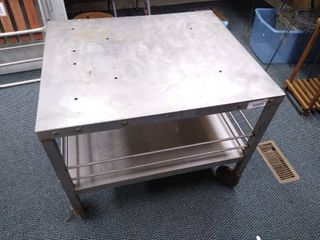large metal rolling cart   26 1 2 in H x 27 in w x 32 in D