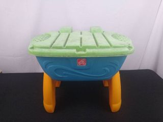 Step 2 sand table with assorted toys 18 in H