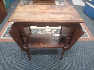 Vintage magazine rack end table 24 1 2 in H X 25 1 2 in W X 12 in D