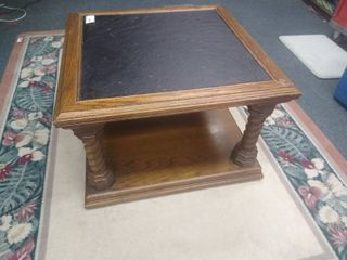 Wooden coffee table 18 1 2 in H X 29 in X 29 in