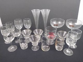 lot of 20 assorted drinking glasses