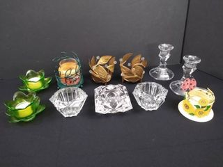 lot of 11 decorative candle holders