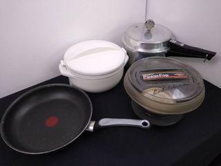 Presto Pop microwave multi  popper  insulated bowl and a micro matic steam pot