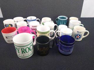lot of 19 assorted coffee mugs