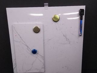 U Brands large and small magnetic whiteboards  large is 14 in H X 14 in W  small is 10 in H X 5 1 2 in