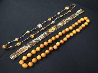 3 costume jewelry necklaces