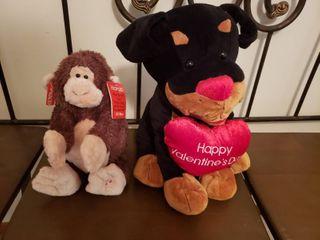 2 Stuffed Animals  including GUND Monkey Mongo