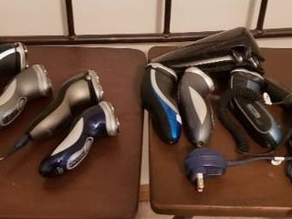 lot of Mens Shavers Electric Razors   Philips Norelco   More