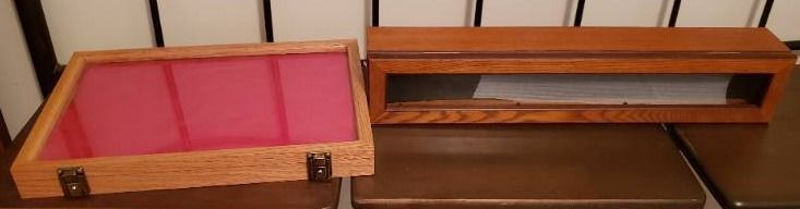 2 Wood   Glass Display Cases