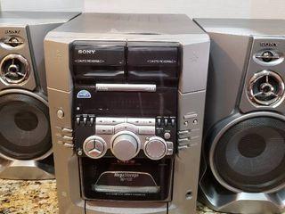 Sony Bookshelf Stereo System w  50 Disc CD Changer HCD M100