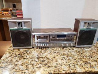 Vintage Soundesign Bookshelf Cassette Stereo System   Model 3888 8