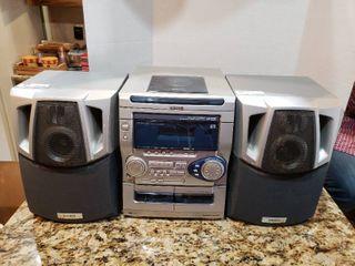 Aiwa 3 Disc CD Bookshelf Stereo System   Model CX NAJ20