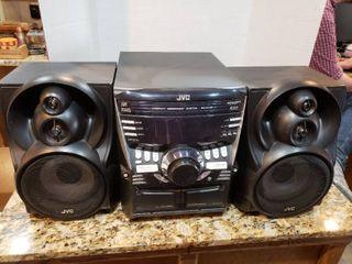 JVC 3 Disc Dual Cassette Boombox Stereo System   Model MX KC50