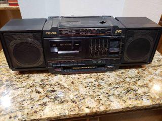 JVC PC V55 Stereo Cassette Boombox System