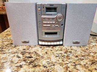 RCA CD Cassette Bookshelf Stereo System   Model RS1290