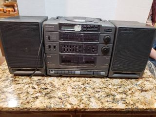 RCA CD Dual Cassette Boombox Stereo System