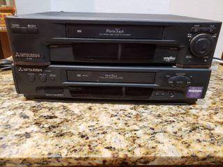 lot of 2 Mitsubishi VHS Players   Model     HS U520  HS U560