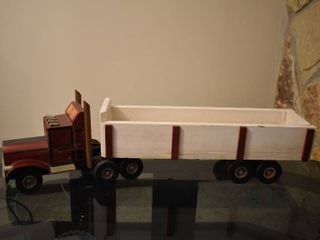 Wooden Semi Truck With Trailer