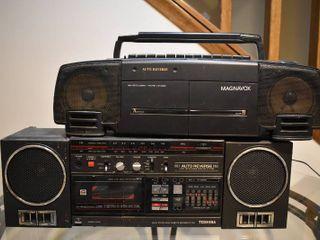 lot of 2 Magnavox   Toshiba  RT 7045  Stereos
