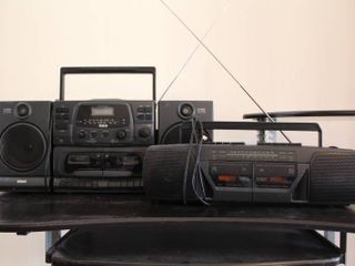 lot of 2 RCA Stereos   Model     RP 7767A   RP 7953B