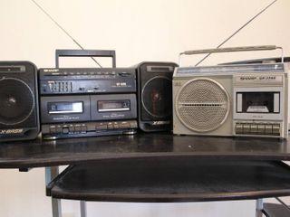 lot of 2 Sharp Stereos   Model     GF 1740   WF A500