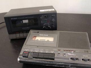 lot of 2 Cassette Tape Devices   Model     14 1154  Radio Shack    SCT 86  Optimus