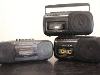 lot of 3 Optimus Radio Cassette Recorders   Model     CTR 119   SCR 65  x2