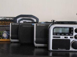 lot of 5 Midland   Emerson AM FM  Weatherband Radios