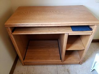 Wooden Computer Desk   36 5  W x 19  D x 31  T