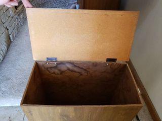 Hinged lid Wooden Box   21  W x 10 5  D x 24  T