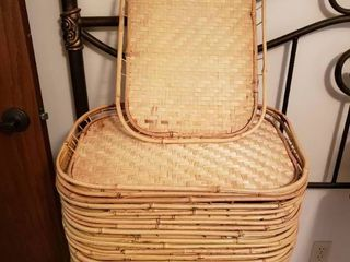 large Set of Wicker Trays  2 of 2