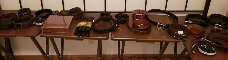 lot of Mens Belts   Most are Size 38