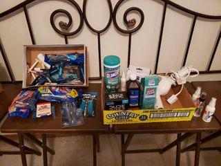 lot of Bath  Personal Care   Hygiene Items   Gillette Mach 3 Razor  Clorox Wipes  Cleaner   More