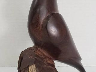 Ironwood Carved Quail Sculpture   11 25 in  tall