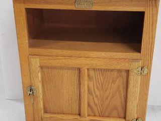 White Clad Oak Swivel Top Wood Cabinet w Single Door   27 x 19 5 x 34 5 in  tall