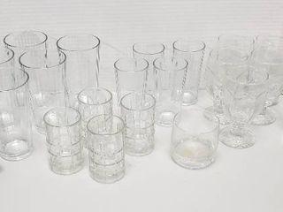 Glass Tumblers  Juice Glasses and 3 Mugs