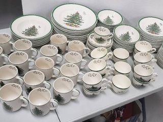 Spode Christmas Tree China Set   copyright 1938