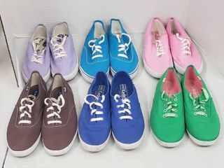 6 Pairs of ladies Shoes  Size 8 5 M   Keds  Soda    City Sneaks   Canvas