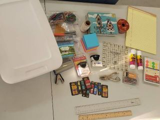 Office Supplies w Small Tote