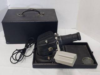 Vintage Golden Slide Projector Model 300 P w Carrying Case   works