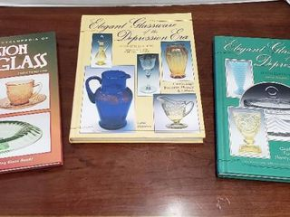 3 Books on Depression Glass Books