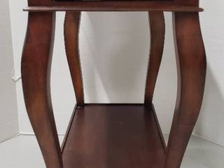 Ethan Allen Dark Brown Single Drawer Accent Table   12 x 22 x 25 in  tall