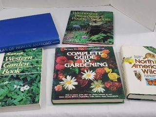 Books  Gardening  Wildlife  and Atlas of Human Anatomy