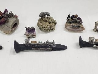 Pewter Trains  Pewter Wildlife and Mineral Souvenirs